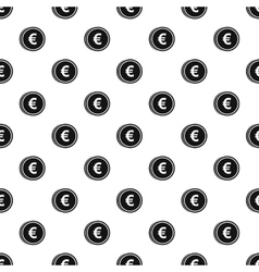 Coin with euro sign pattern simple style vector image vector image