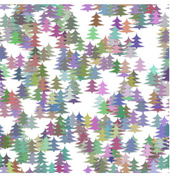 colorful random pine tree background - winter vector image