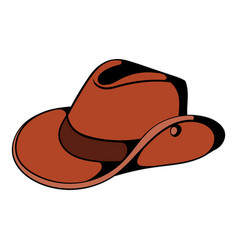 Cowboy hat icon cartoon vector