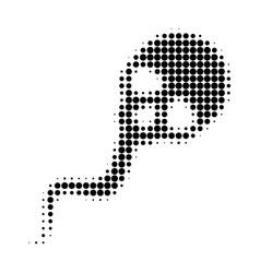 Dead sperm halftone dotted icon vector