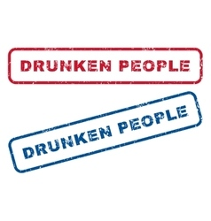 Drunken People Rubber Stamps vector