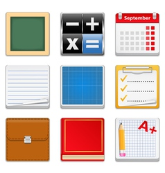 Education Square Icons vector image
