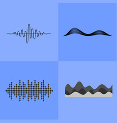 Equalizer interface icons vector