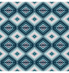 ethnic tribal seamless pattern in pink and blue vector image