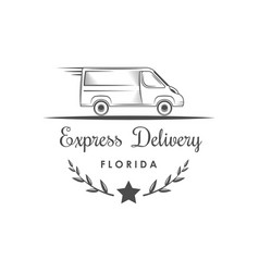 express delivery logotype vector image