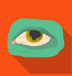 Eye single icon in flat styleeye symbol vector