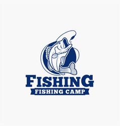 fishing fishing logo badge 8 vector image