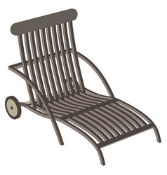 Flat chair recliner lounge realistic office metal vector