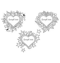 frames set on st valentine s day vector image
