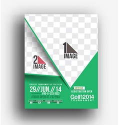 Golf Tournament Front Back Flyer Template vector image
