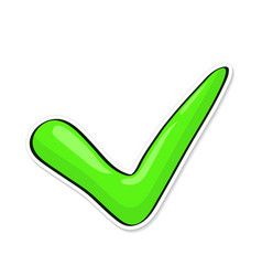 green check mark for indicate right vector image