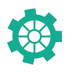 Green gear wheel engine cog icon vector