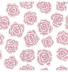 Hand drawn rose pattern vector image