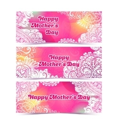 Happy Mothers Day horizontal flyer design template vector image