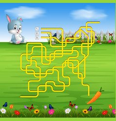 Help the rabbit to find the carrot vector