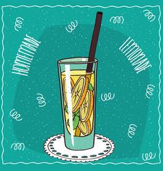 Homemade classic lemonade in cartoon style vector