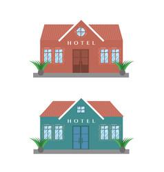 Hotel buildings set vector
