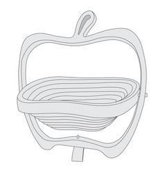 image of a vase in the shape of an apple vector image