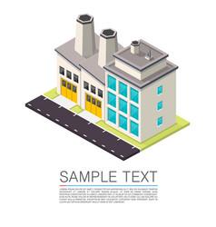 industrial on roadside vector image