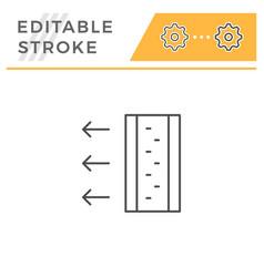 Insulation scheme line icon vector