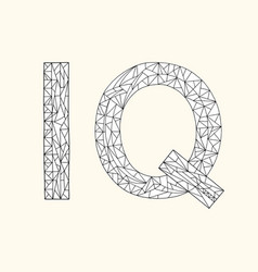 Iq hand drawn coloring book intelligence quotient vector