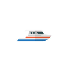 Isolated ship flat icon boat element can vector
