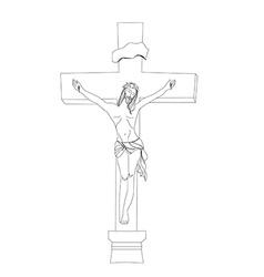 Jesus christ in cross vector