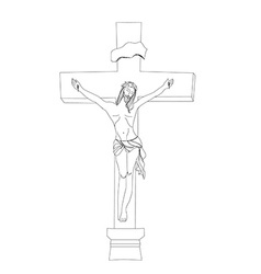 Jesus christ in the cross vector