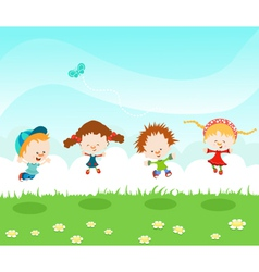 Jumping Kids vector image