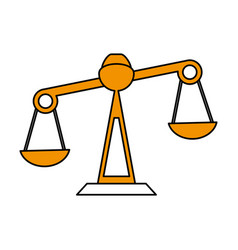 Justice scale icon image vector