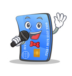 Karaoke credit card character cartoon vector