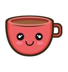 Kawaii cartoon coffee cup vector