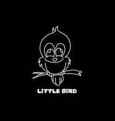 little bird line image vector image