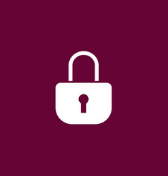 lock icon simple vector image