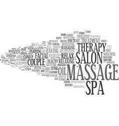 Massage word cloud concept vector