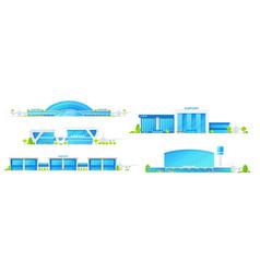 modern airport passenger terminal buildings vector image