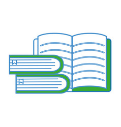 Notebook open with books tool vector