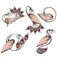 Peacocks symbols vector