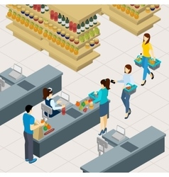 People At The Shopping Line vector image