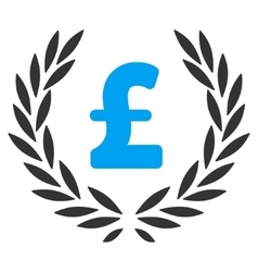 Pound Laurel Wreath Flat Icon Symbol vector