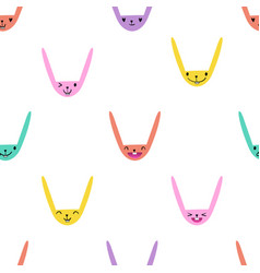Rabbit emoticons pattern-06 vector