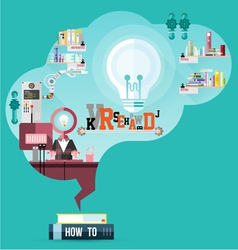read for smart brain vector image
