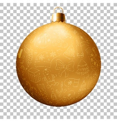 Realistic Christmas golden ball vector