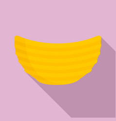 rippled cheese chips icon flat style vector image