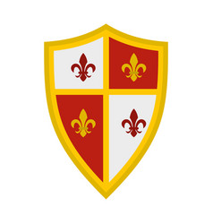 royal shield icon flat style vector image