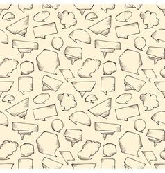 Seamless speech bubbles pattern vector image