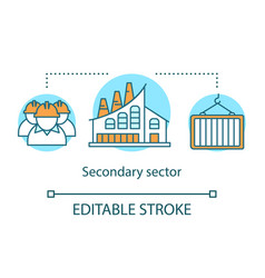 Secondary sector concept icon processing and vector