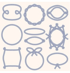 Set of marine rope frames vector image
