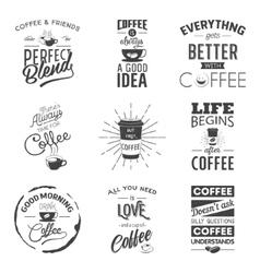 set vintage wine typographic quotes grunge vector image