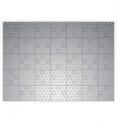silver metal jigsaw puzzle vector image